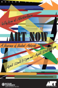 Art Now Spring 2014 Poster, by Margaret Citron ('17)