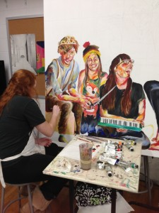 Taylor Sitorius, shown here working in the studio, did an Internship at the Indianapolis Museum of Art