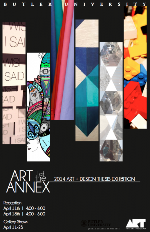 Art at the Annex Spring 2014 poster