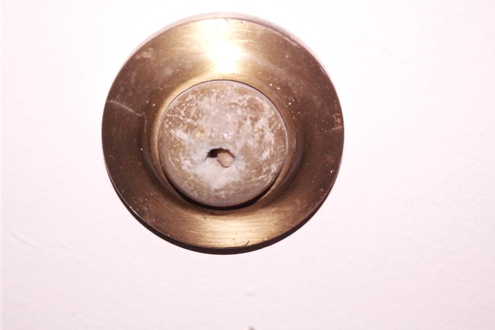 Margaret Citron's photograph of the door stop in her dorm room
