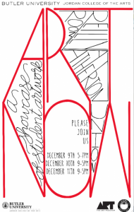 ART NOW Fall 2014 Poster by Olivia Toriumi ('14) and Abbi Miles ('16)