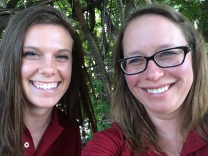 Debbie Nichols and Katie Waskom are part of the team gathering baseline data for the NSF project.