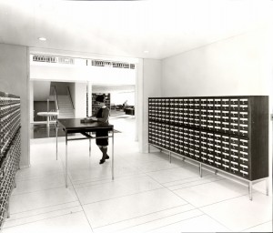 Irwin Library Then: Card Catalog, 1963