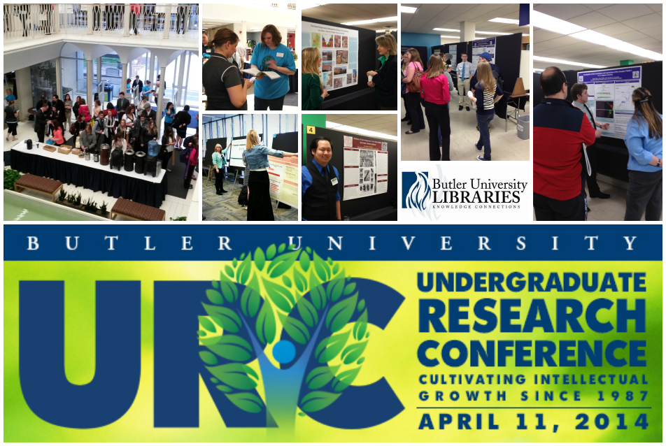 Registration and Morning Poster Session at Irwin Library for the Undergraduate Research Conference