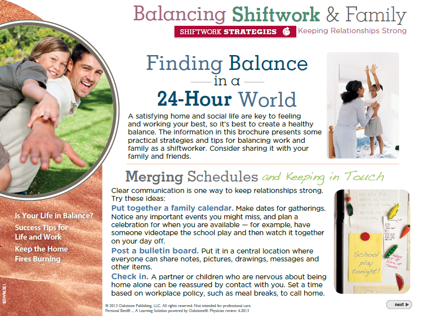 2014 Balancing Shiftwork and Family