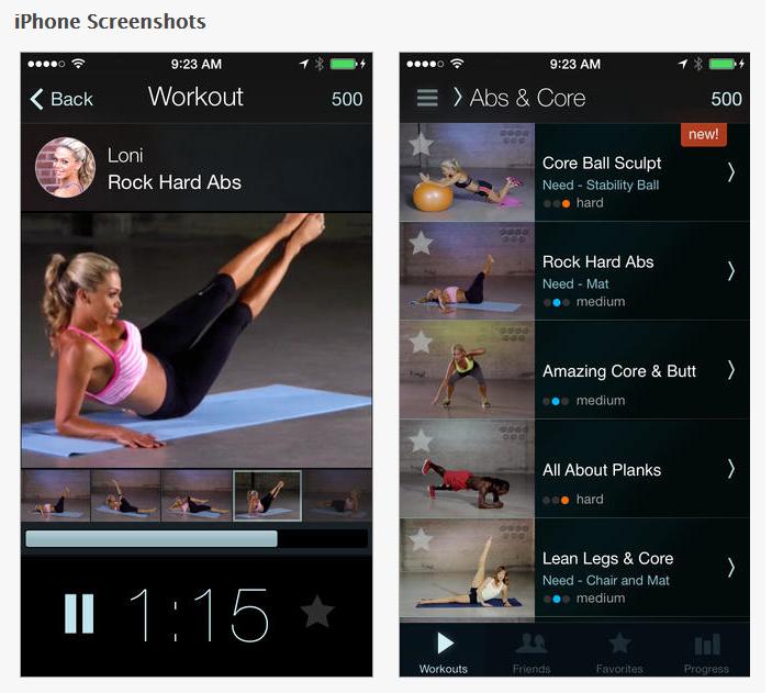 Hot 5 Fitness App