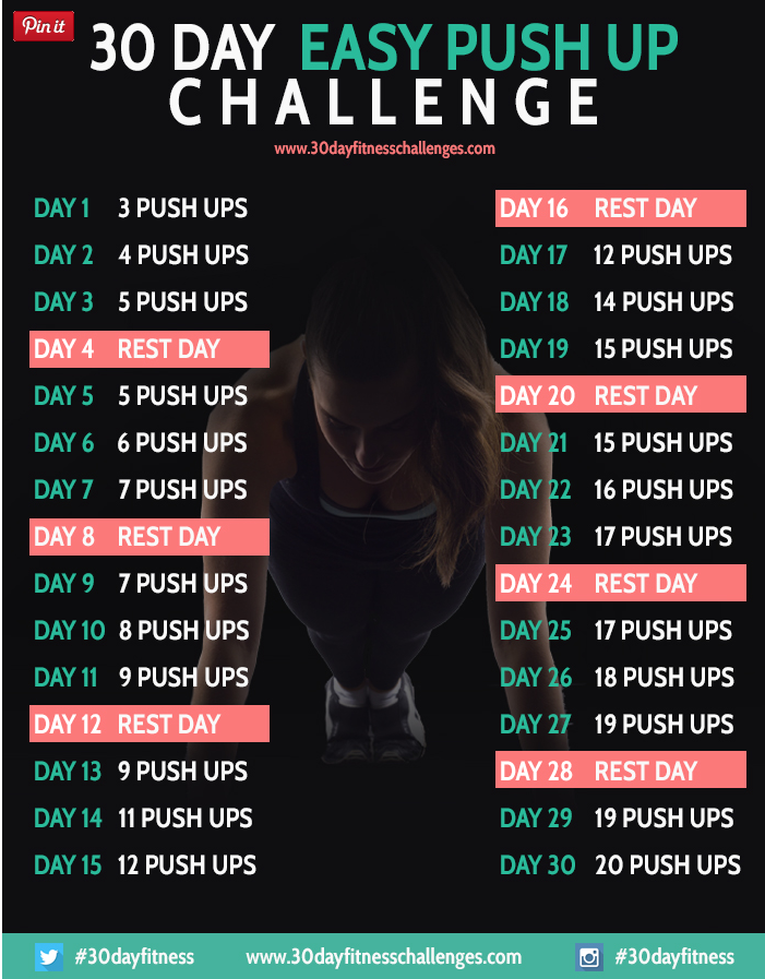 30 day push up challenge