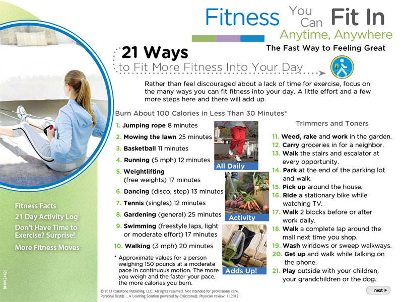 21 ways to fit more fitness in your day