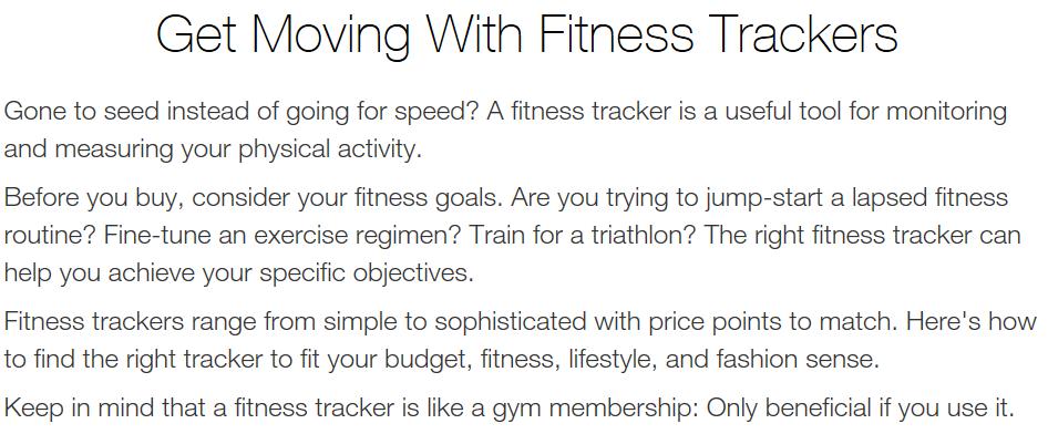 Fitness Tracker Text