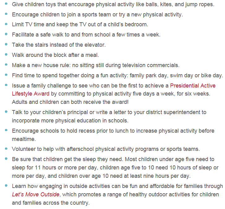 Let's Move Ideas for Kids