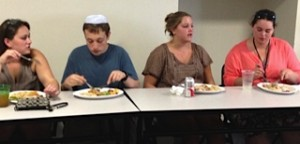 First Shabbat dinner of the year!