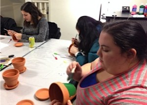 Painting flower pots for Hooverwood