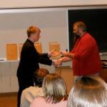 Award at Transy