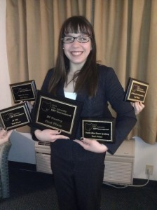Taylor Pearson and all her awards!
