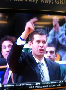 Former Butler Bulldog basketball coach and current Boston Celtics coach, Brad Stevens.